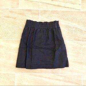 J. CREW Paperbag  Skirt Navy Linen